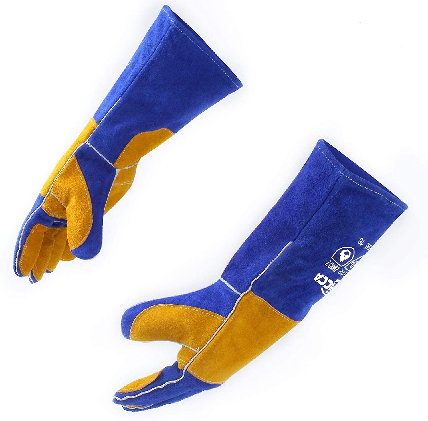 RAPICCA 16 Inches Leather Forge Mig Stick Welding Gloves
